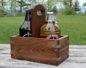 DIY Vintage Industrial Craft Beer Growler Carrier