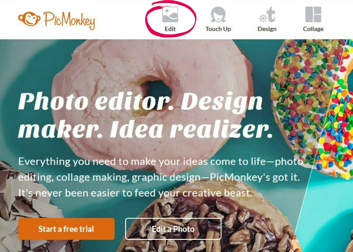 How to create a round bio photo for your blog in 3 easy steps - go to Picmonkey