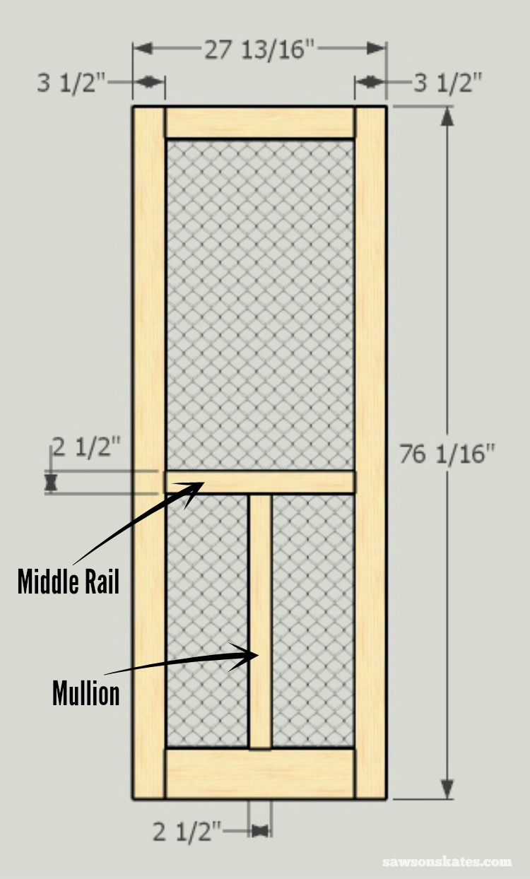 Contemporary How To Build A Wood Frame Screen Door Pattern - Picture ...
