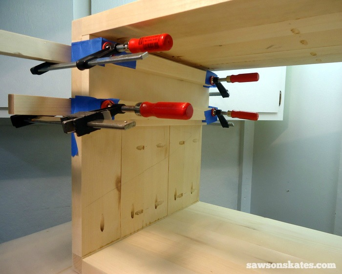 Install the Retro Nightstand Inside Shelf Panels