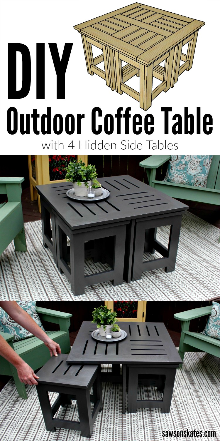 Looking For Ideas For An Easy DIY Outdoor Coffee Table? This Plans Shows  How To