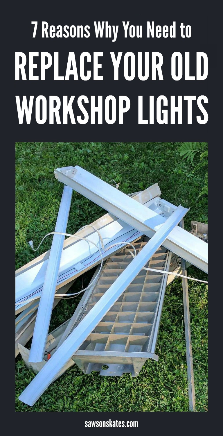 Looking for DIY ideas to brighten your dim, poorly lit workshop? Here are 7 reasons you should replace your old workshop lights with LED shop lights - the difference is like night and day!