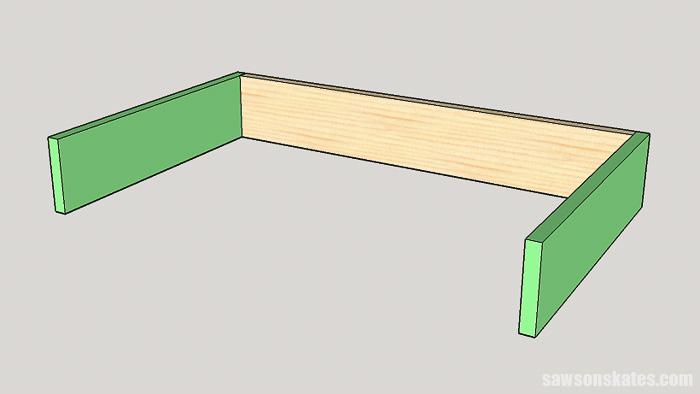 DIY ladder desk - assemble the desk