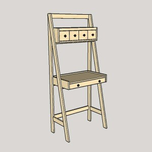 DIY Ladder Desk is a Work and Storage Space-Saver