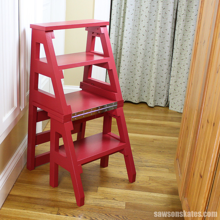 DIY Ladder Chair - ladder ready for use
