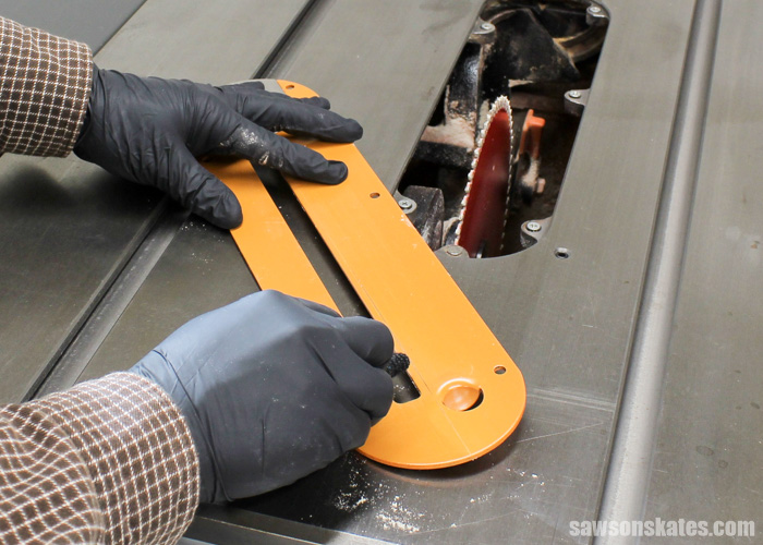 Wax your table saw - use a rag and paint thinner to remove any resin build up