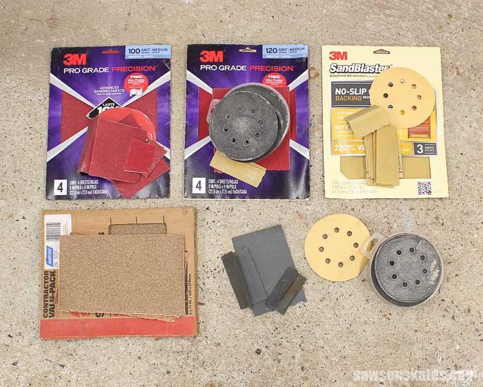 Sandpaper Storage Solution - I started by organizing my sandpaper