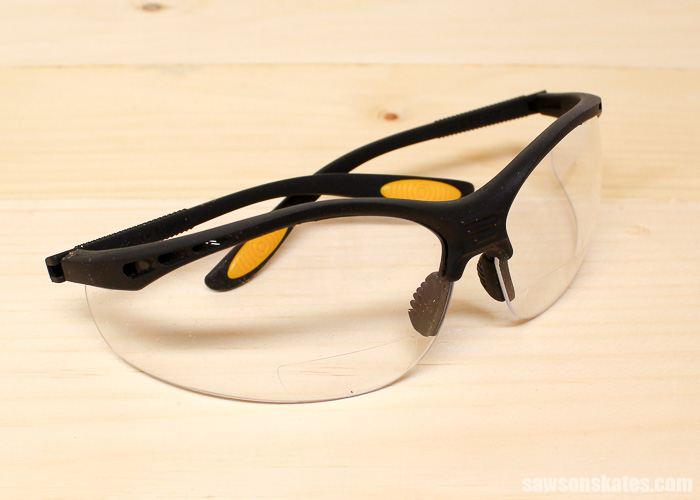 The magnification area of these bifocal safety glasses is small and sits lower than prescription bifocals.
