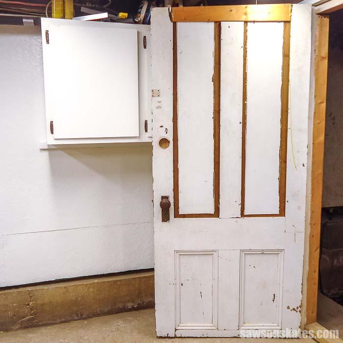 Old workshop door open