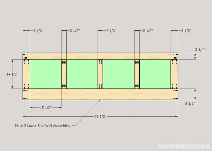 How to build the lower walls for the DIY camper