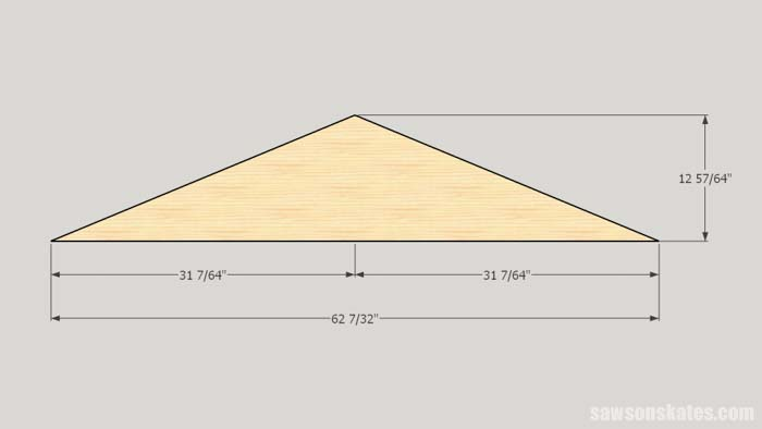 Dimensions of the gable panels for the DIY camper