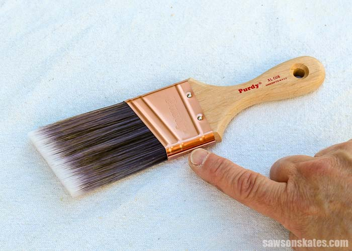 Keeping paint out of the metal ferrule is the best way to clean paint brushes