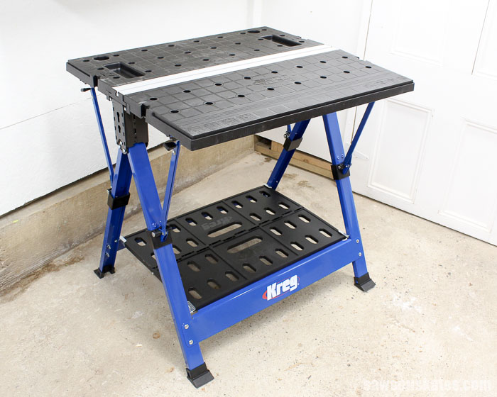 Small Workshop Ideas - the Kreg Mobile Project Center is a workbench, an assembly table, a clamp station, can be used as sawhorse plus so much more.