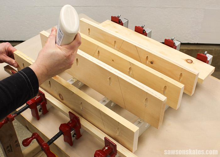 Pocket Hole Tips for Edge Joints - use wood glue to improve the quality of your edge joints