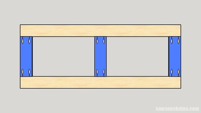 Pocket Hole Joints - When making a butt joint drill the pocket holes into the ends of the workpiece