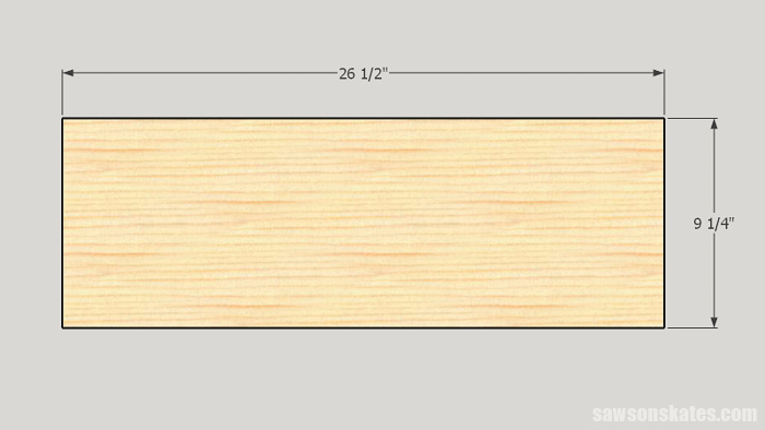 Make a Door with Pocket Holes - cut the panels to size
