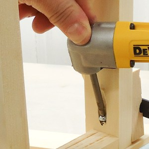 A right angle drill is a must-have tool for tight spaces