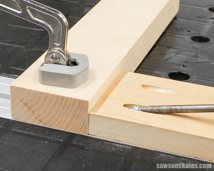 "Pocket Hole Joints - There's a simple ""rule"" to remember when joining different thicknesses and that rule is ""Think Thin"""