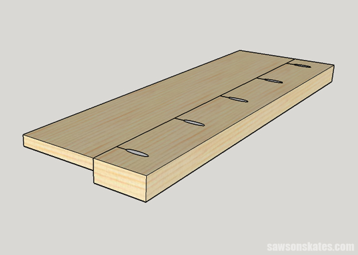 Let's say we want to join a 2x4 workpiece to a 1x6 workpiece. How should we set up the drill guide to join these two pieces?
