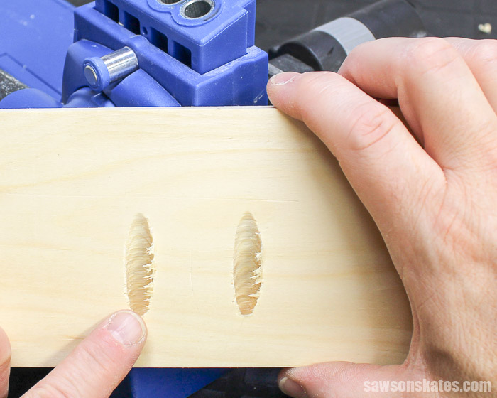 Prevent pocket hole tearout by driving the bit a full speed, using a corded drill, and making sure cordless drill batteries are fully charged