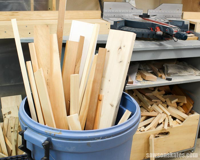 Scrap wood can overtake your workshop making it feel crowded and disorganized. Here are some guidelines for deciding what cutoffs to keep and what to toss.