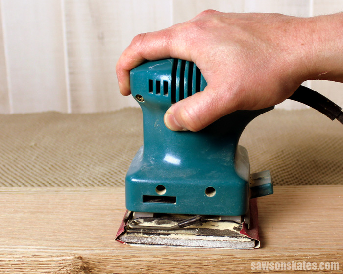 Best DIY tips - never use a palm sander for DIY furniture projects