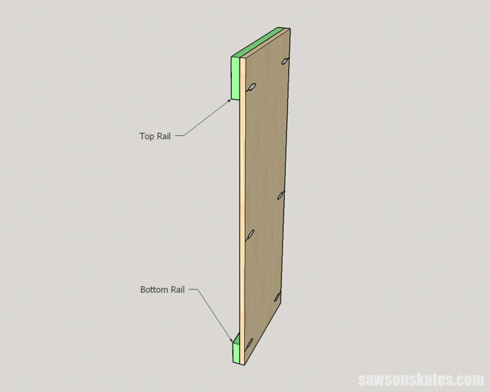 DIY Wine Cabinet - assemble the side panels