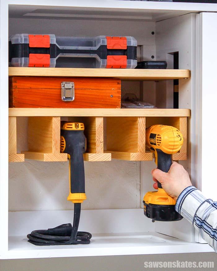 DIY Cordless Drill Storage Rack