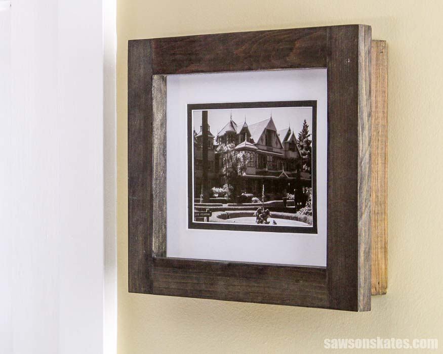 These DIY custom size picture frames are easy to make with cheap wood and simple tools.
