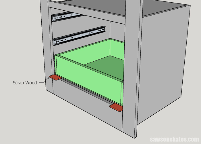 Installing a DIY drawer in the bottom of a builtin cabinet