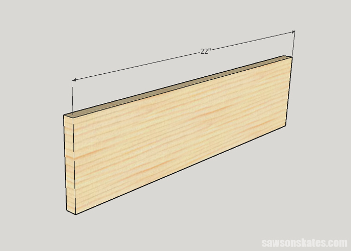 Cutting the sides for a drawer box