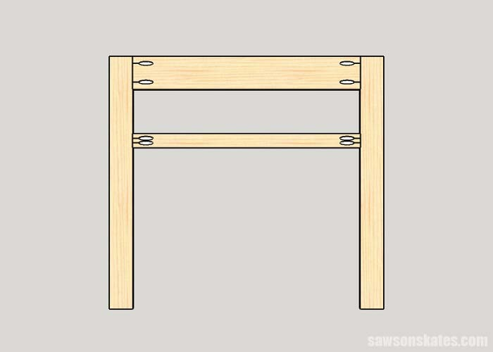 Making the front appearance assembly for the DIY electric fireplace mantel and TV stand