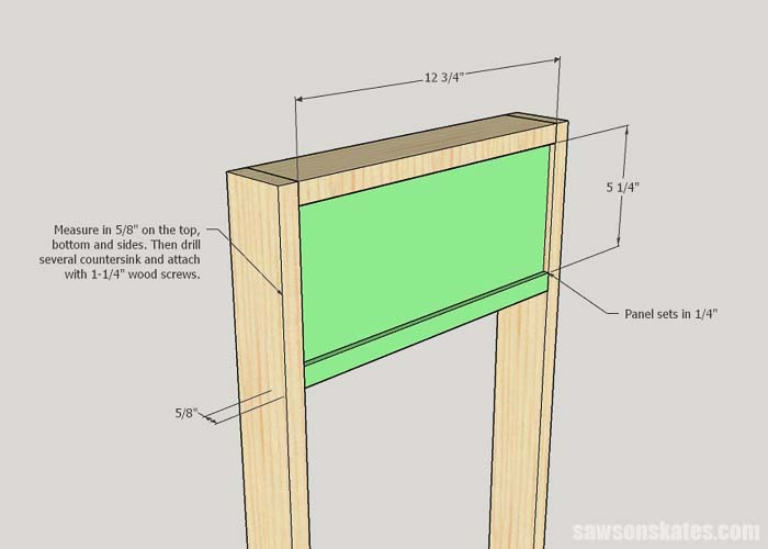 Installing the side panel of the DIY litter box enclosure