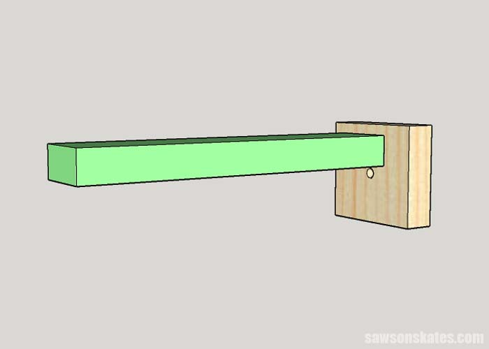Building a stop for foldable DIY miter saw station