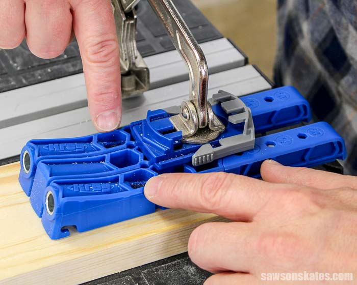 The holes in the Kreg Pocket Hole Jig 320 allow chips to escape