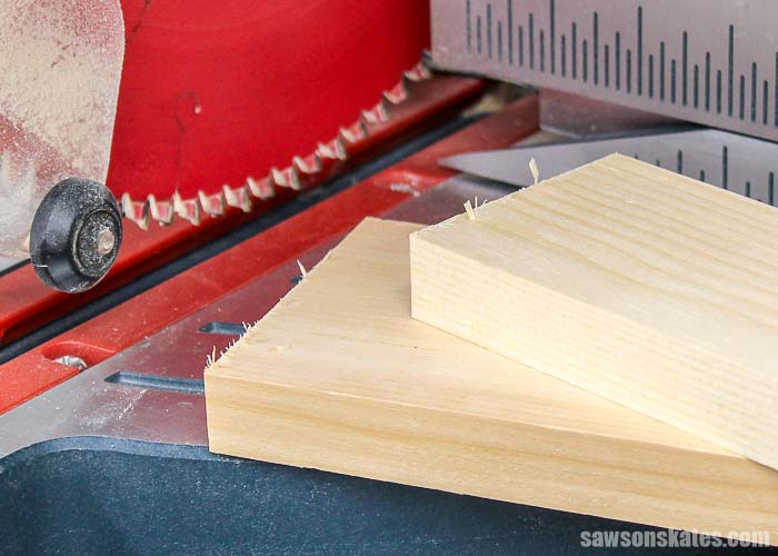 Tear-out happens when the wood fibers are not supported
