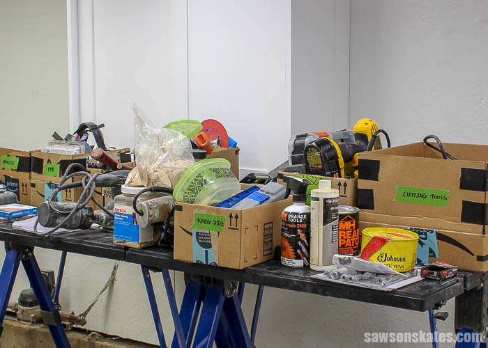 Sorting is the first step to organize tools