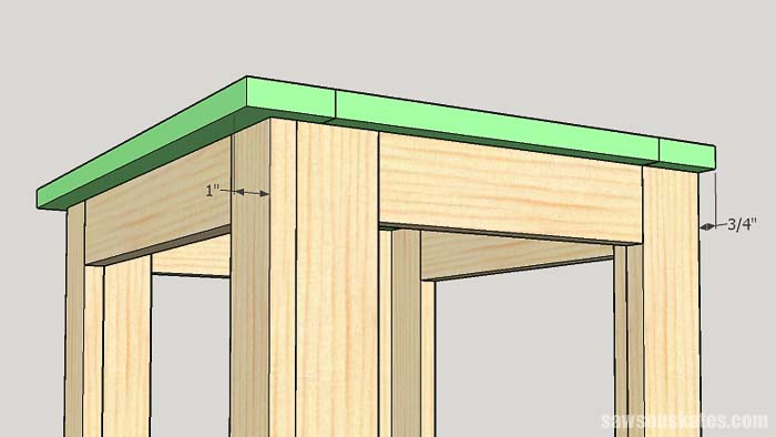 Attaching the top to the outdoor plant stand