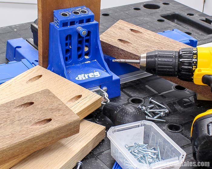 Sometimes hardwoods can crack when using a pocket hole jig. Proper spacing, using the correct pocket screws, and lubricating the screws can prevent cracking.
