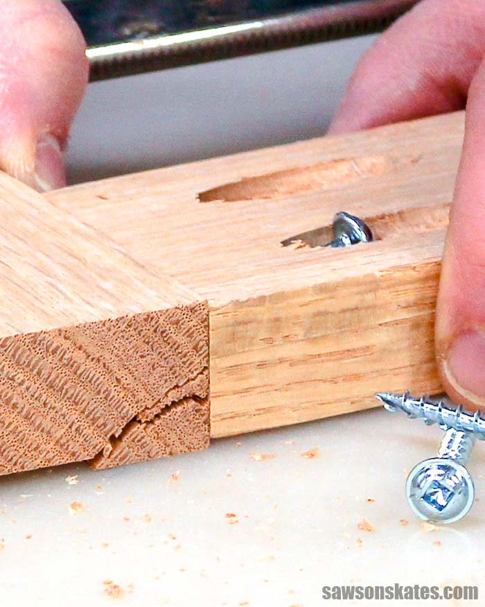 Driving a pocket screw into a pocket hole can sometimes crack the wood. Use these 7 tips and tricks to prevent splitting the wood when using your Kreg Jig.