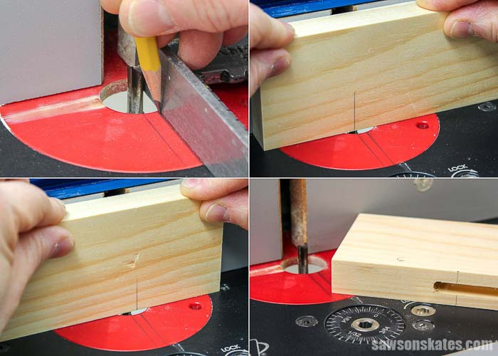 Building cabinet doors by using a router to cut grooves in the stiles.
