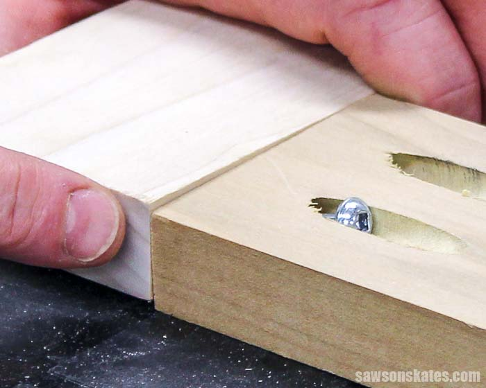 Pocket hole joints can move out of alignment when driving pocket screws. Using clamps is the best way to keep workpieces in position when assembling projects.