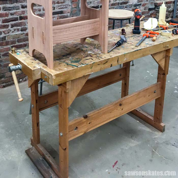 Learn why I don't use a woodworking bench! They're big, heavy, and difficult to move. Instead, I'll share the three benches I use in my small workshop.