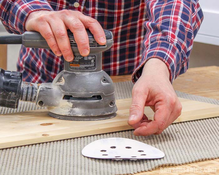 Sanding discs won't stay on your orbital sander? Do they keep flying off? The simple fix for sandpaper that isn't sticking is to replace the sander pad.