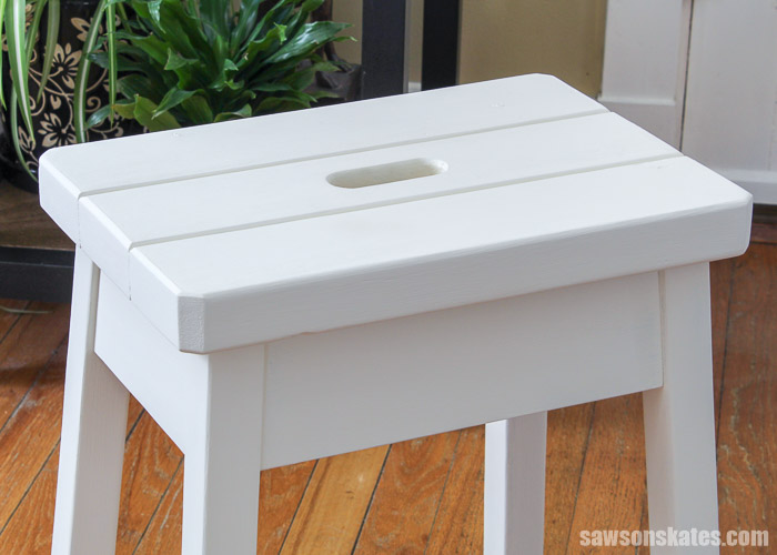 DIY step stool made from wood