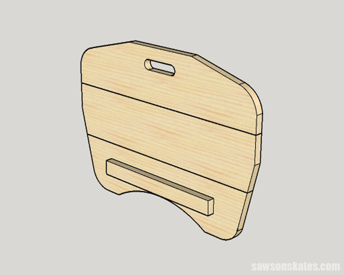 Adding an optional rail to a wood DIY lap desk