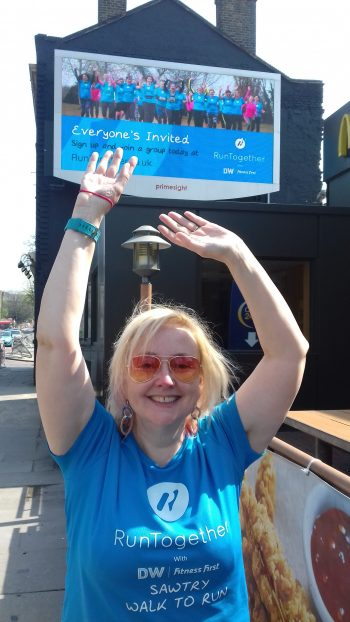 Our London Marathon winning billboard
