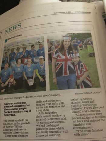 We made the local press!