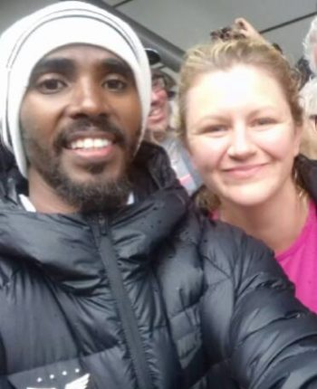 Ken & Janine (and Mo) at the Great North Run