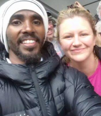 Ken & Janine (and Mo) at the Great North Run
